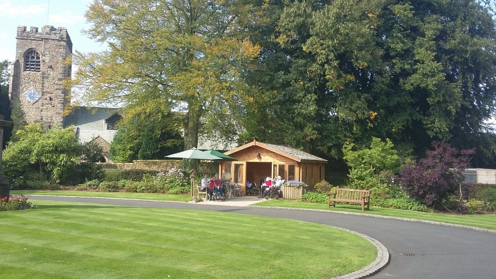 Bushell House residents enjoying the new Summer House
