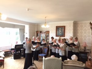 Barton WI came to sing at Bushell House today