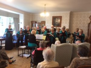 Lifelong singers at Bushell House