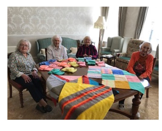 Our knitting group at Bushell house