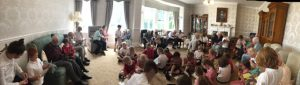 Goosnargh Oliverson's reading to the residents