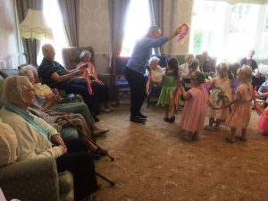 Ollie's nursery came to dance at Bushell House