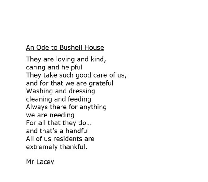 An ode to Bushell House
