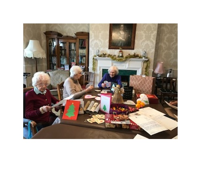 Kirkham Grammar School Gifts for the Residents at Bushell House