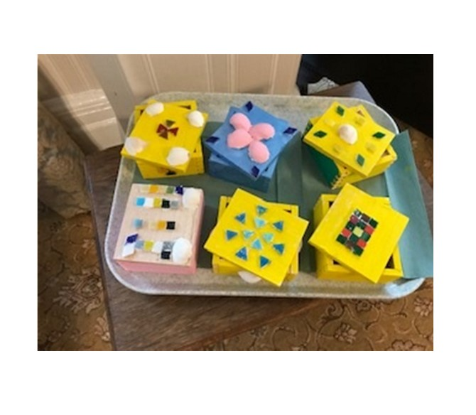 Our finished Trinket Boxes