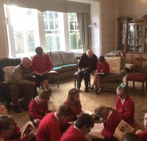 Children from Goosnargh Oliverson's reading at Bushell House