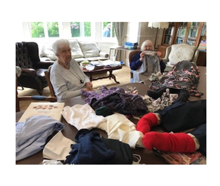Making scarecrows for the Goosnargh and Whittingham Festival